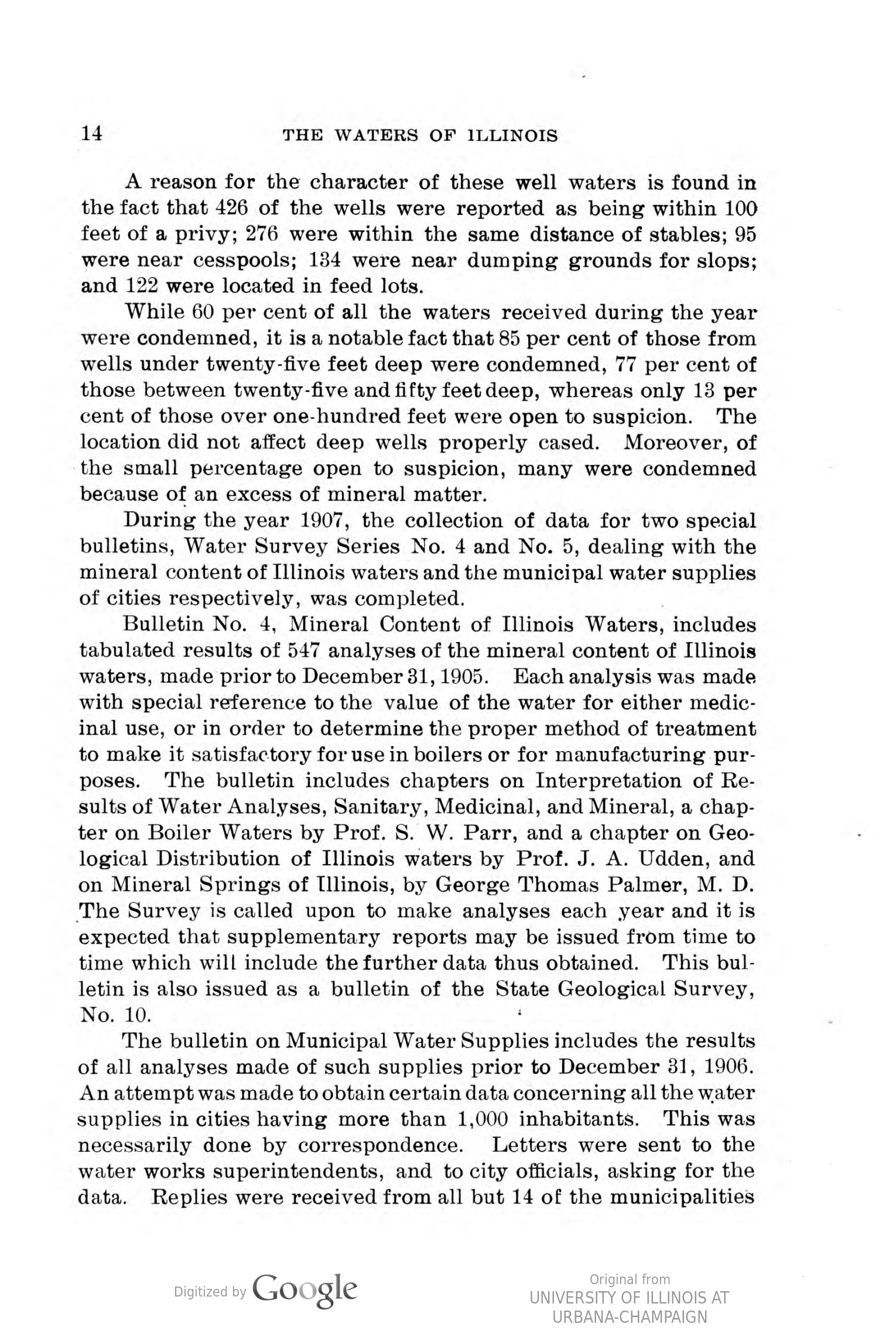 Two photographs of the Bacteriological Laboratory of ISWS, showing lab benches and equipment