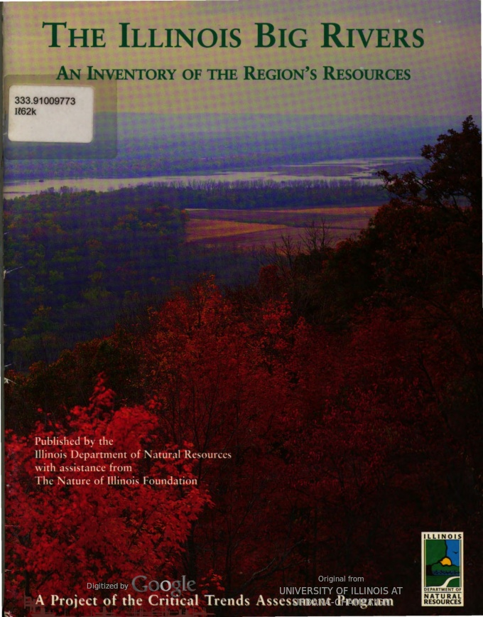 The Illinois Big Rivers: An Inventory of the Regions Resources, cover
