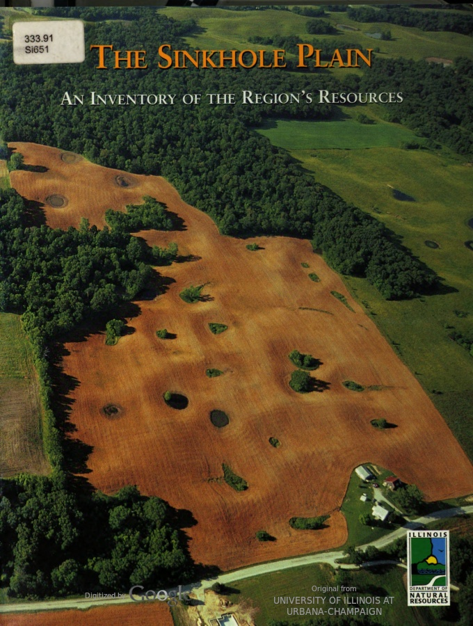 The Sinkhole Plain : An Inventory of the Region's Resources, cover