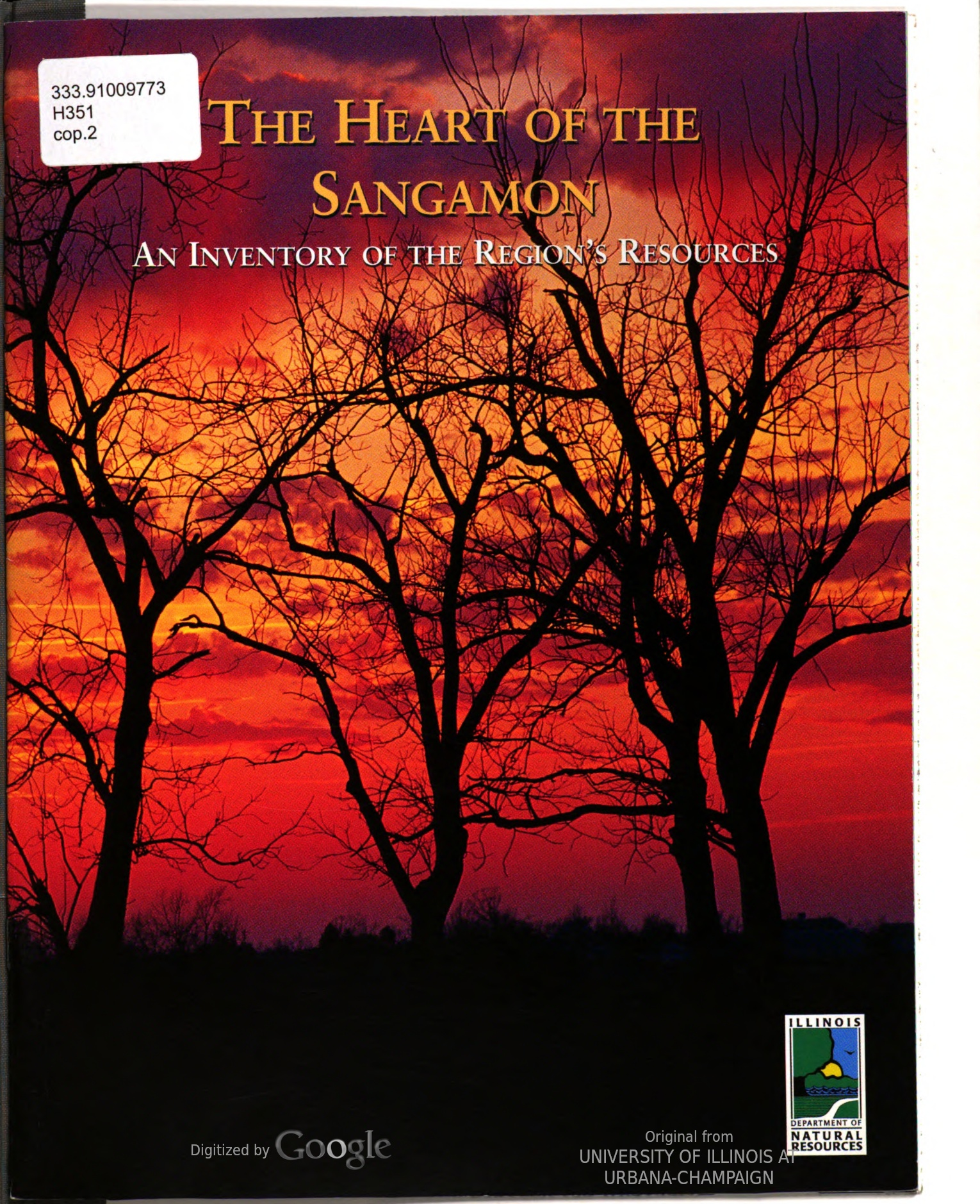 The Heart of the Sangamon : An Inventory of the Region's Resources, cover