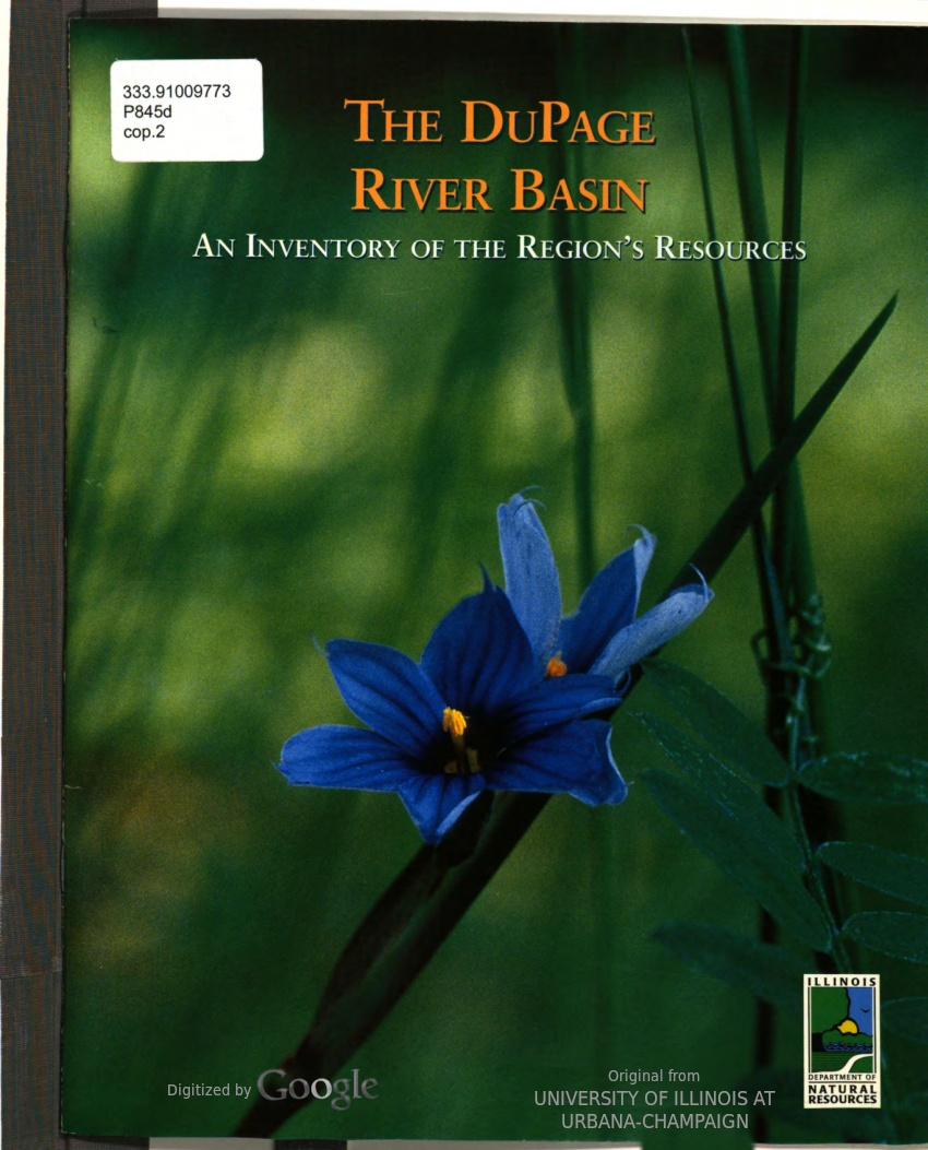 The Du Page River Basin : An Inventory of the Region's Resources, Cover Art