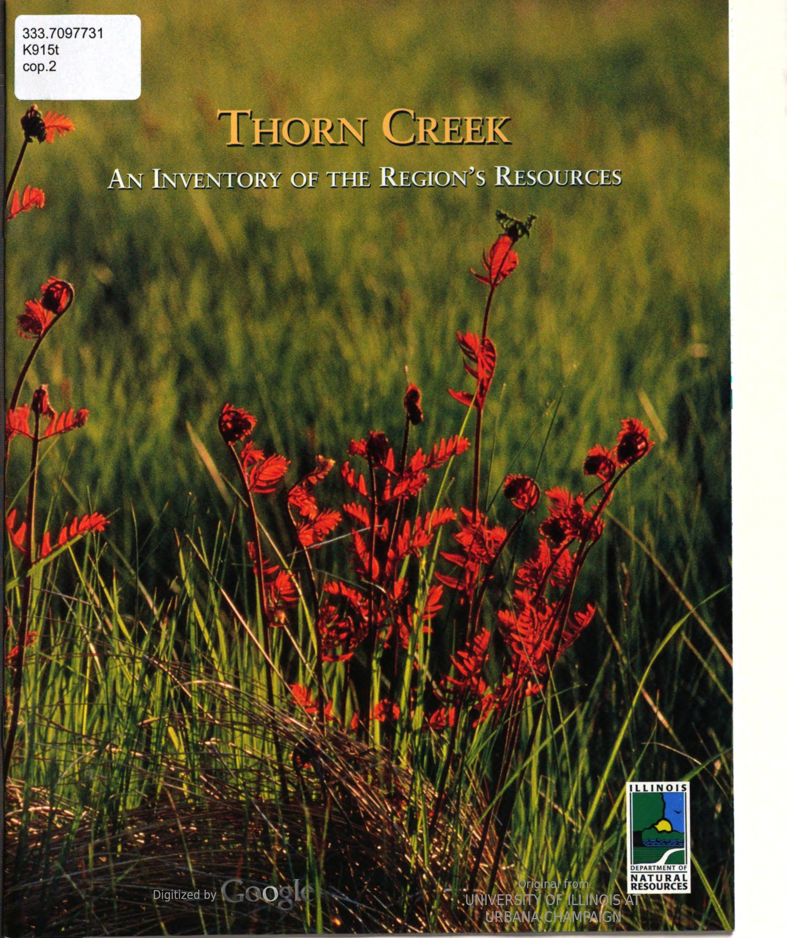 Thorn Creek : An Inventory of the Region's Resources, cover